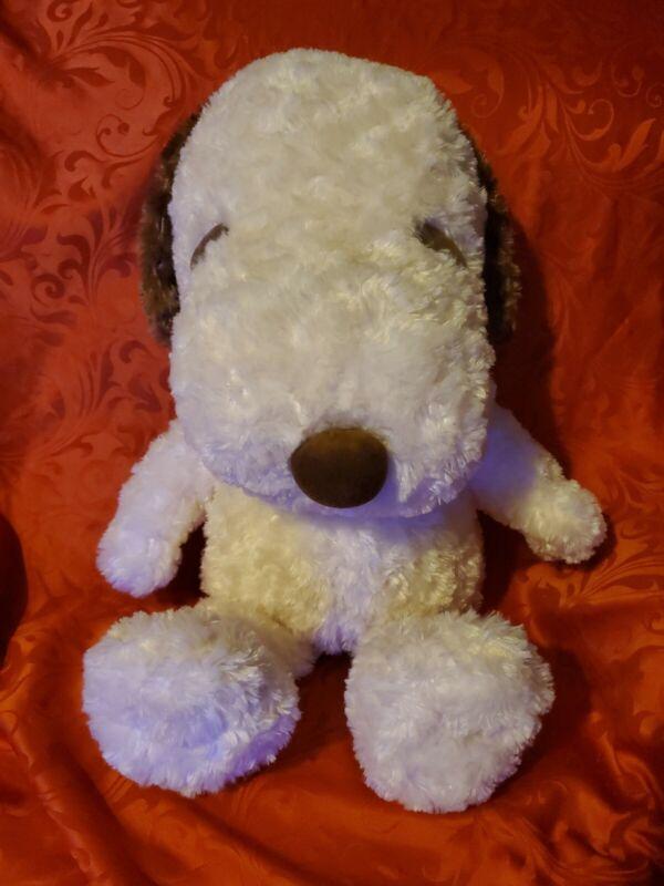 Snoopy Jumbo Rose Fur Plush Brown