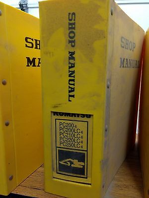 Komatsu Pc200-6pc200lc-6pc210lc-6pc220lc-6pc250lc-6 Excavator Shop Manual