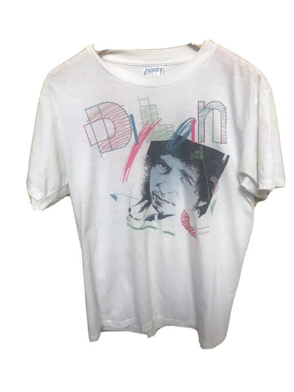 Vintage 1986 Bob Dylan & Tom Petty True Confessions Tour Rock T Shirt XL RARE