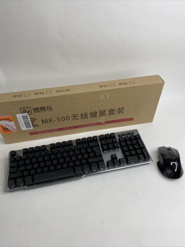 MK500 Gaming Keyboard LED Backlit W/ Mouse Rechargeable