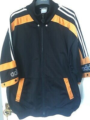 Vintage Mens Adidas Sport Jacket Black Orange  Size 44