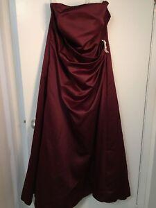 DAVIDS BRIDAL long red dress