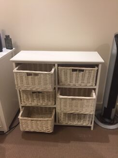 White table and drawers
