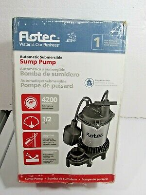 Flotec Fpzs50t - 12 Hp Automatic Submersible Sump Pump W Tethered Float Switch