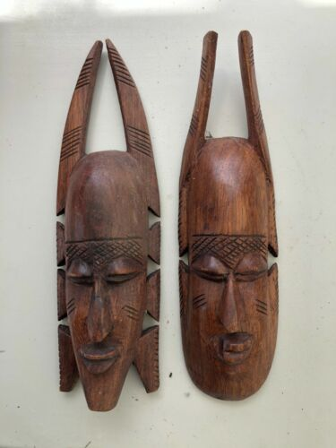 AFRICAN MASKS HAND CARVED LIBERIA