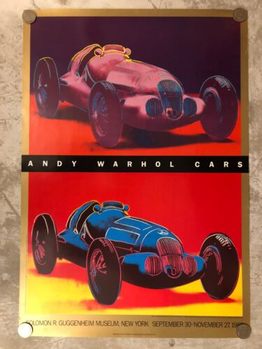 1988 Andy Warhol Mercedes Benz W 125 Race Car ORIGINAL Large Poster RARE Awesome