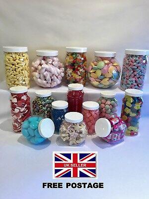 MAXI 15 Jar White Plastic Sweet Jar Set Candy Buffet Wedding Christening Party  - Candy Jar Buffet Set