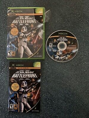 Star Wars BATTLEFRONT II 2 Xbox Original Video Game Complete with Manual+Case