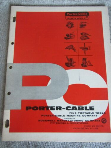 Vintage 1961 Porter Cable Power Tools Catalog PC-109 10/61 (10)