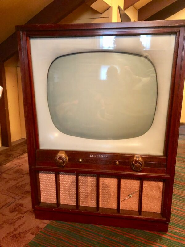 Vintage Sylvania TV wood console with Halo Light 1953-1961