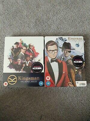 kingsman 1 & 2 blu ray steelbook