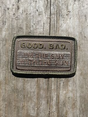 """Good Bad Guy With Gun US Patch Rare USA 3"""" Velkro Morale Army Darkness Evil Dead"""