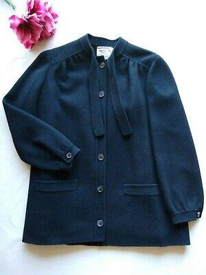 Valentino Boutique VTG 100%Wool Jacket Coat Button Pockets Black Sz.8