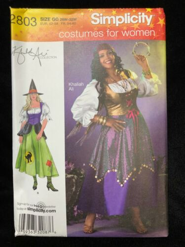 Simplicity Sewing Pattern 2803 Khaliah Ali Women Costume Size GG 26W-32W
