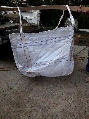 Bulk Super Ton Bag 2200LBS Duffle Top Flat Bottom Sacks Rubble Woven Safety