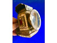 """Vintage Lamp Lens For Carbide Or Oil Lamps Bicycle Motor Lamps Lenses Flat 2.5"""""""