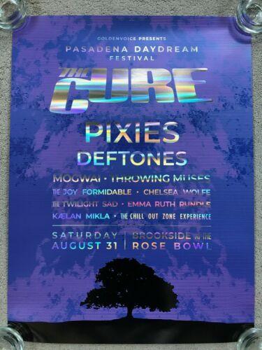 THE CURE Pasadena Daydream Festival VIP Poster Concert Pixies Deftones 2019