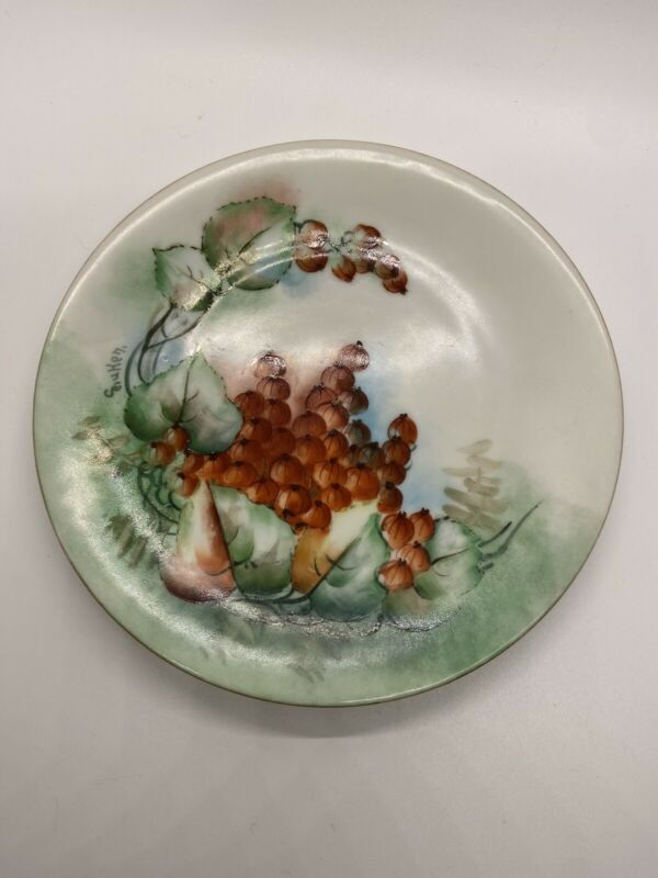 handpainted Japanese persimmon plate