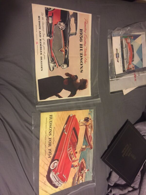 Hudsons for 1954 & 1956 Dealership Introduction 2 Brochure Presenting All New