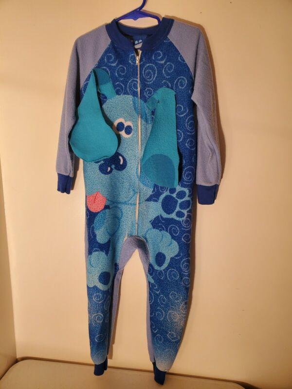 RARE HTF Vintage Blues Clues Zip Up One Piece Pajamas 1999 unisex clothing