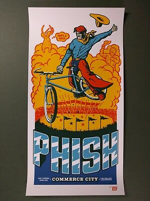 PHISH CONCERT POSTER DICK'S SPORTING GOODS PARK DENVER COLORADO MOUNTAIN BIKE