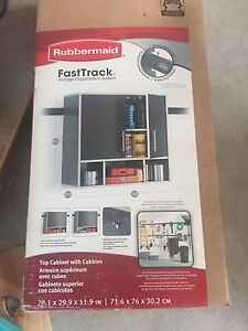 Rubbbermaid Fast track top cabinets