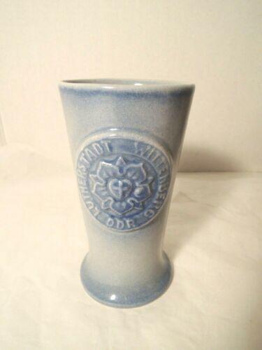 Lutherstadt Wittenberg Vase East Germany DDR GDR Light Blue 5-3/4 in. [14.5 cm]