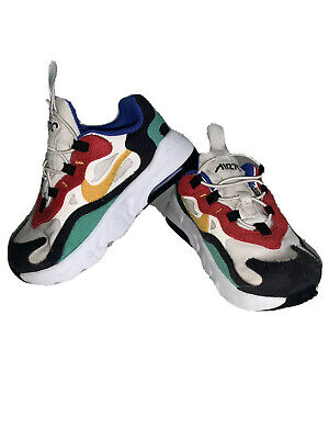 Infant Boys NIKE Air Max 270 React White/red/green/yellow Size 6.5