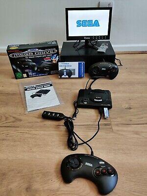 Official Rare SEGA Genesis Mega Drive & Mini True Blue 813 Games addon & Monitor