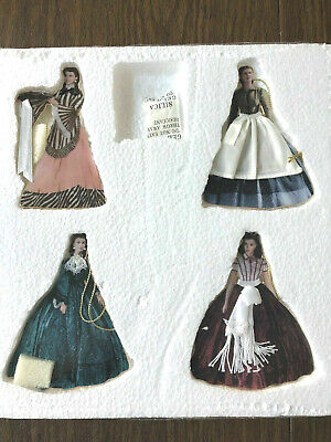 Gone With Wind Costumes (4 Bradford Exchange Costumes of Scarlett O'Hara Ornaments Gone With The Wind)
