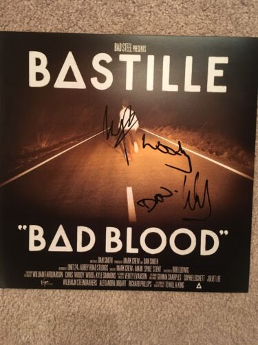 BASTILLE SIGNED BAD BLOOD 12X12 PHOTO PROOF COA AUTOGRAPHED FULL BAND