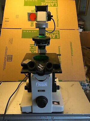 Nikon Diaphot Inverted Phase Contrast Binocular Microscope
