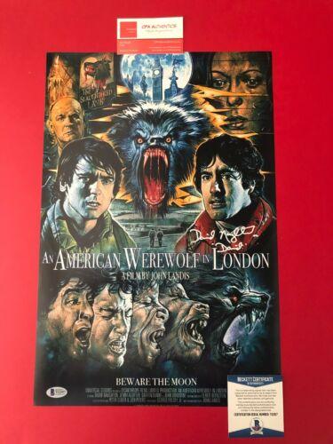 David Naughton American Werewolf in London Signed 12x18 Poster BECKETT COA