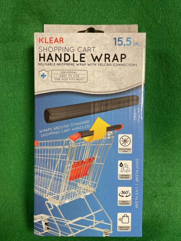 💥Klear Shopping Cart Handle Wrap Reusable Guard Cover-Black💥