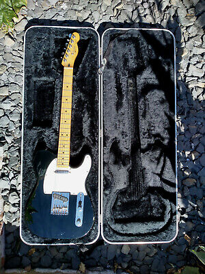 Fender Mexican Telecaster Black Maple Neck. Includes Hard Case