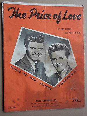 EVERLY BROTHERS - THE PRICE OF LOVE sheet music