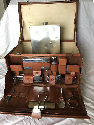 Abercrombie & Fitch - Leather Gentlemans Valise with many original accessories.