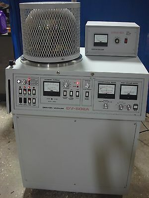 Denton Dv-502a Vacuum W Dsm-5a Cold Sputter Coater Module Sputtering System