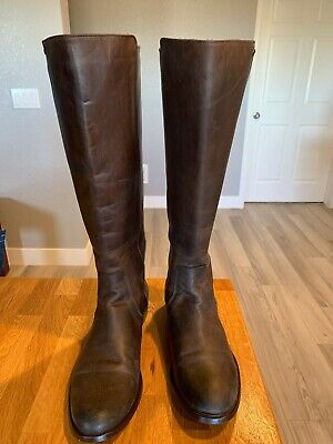Tall Leather Boots (FRYE Women's brown tall boot leather upper and lining, size 9.5 B back)