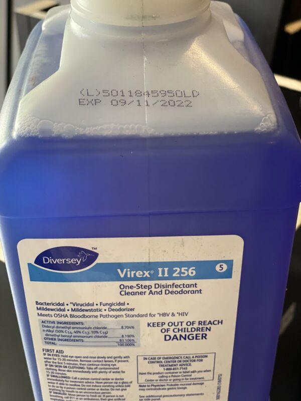 (1 Bottle) Diversey 04329 5 Virex II 256 One Step 2.5L exp 9/11/22