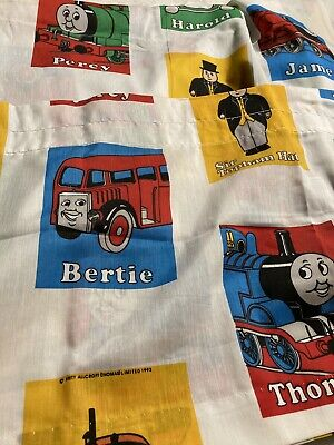 Vintage 90s Thomas the Tank Engine Train Twin Flat and Fitted Sheets Set