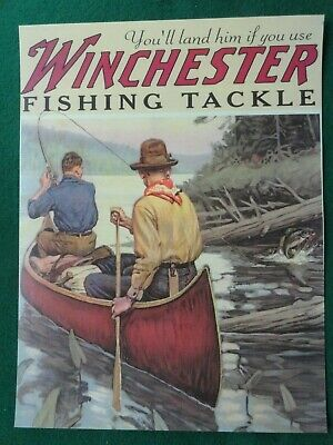 Winchester Advertising Poster Fishing Tackle , Philip Goodwin artist