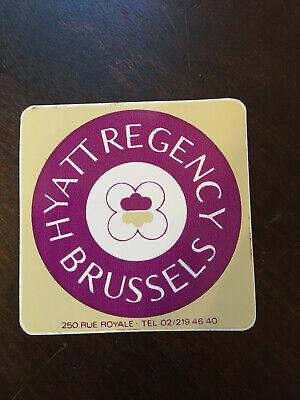 Hyatt Regency Brussels, Unused Vintage Luggage label