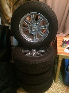"17"" rims with tires 90% tread"
