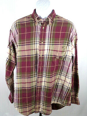 Nautica Mens Large Multicolor Plaid Long Sleeve Button Down Casual Shirt A14