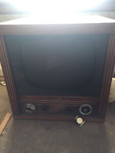Cool old heater and tv