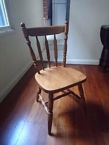 4 good quality sturdy wooden dining chairs Paddington Eastern Suburbs Preview