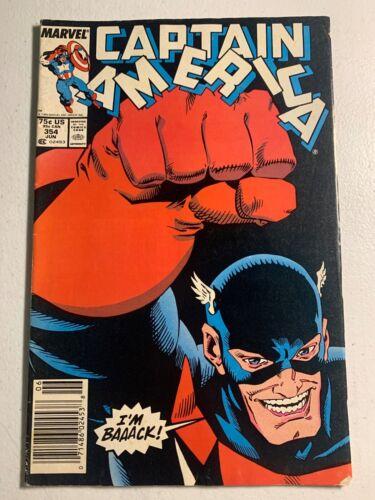 Captain America #354 1st USA Agent NEWSSTAND