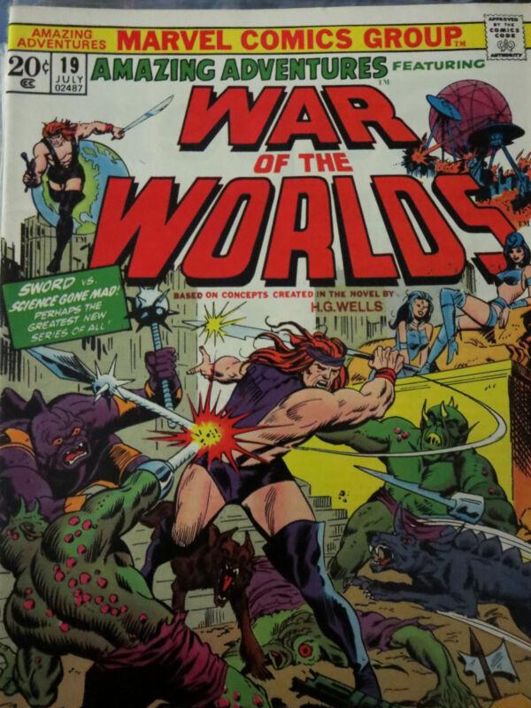 AMAZING ADVENTURES 19-20, 24, 26-39 - Lot of 17 comics Killraven H.G. Wells