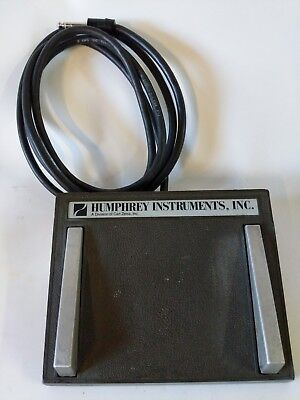 Zeiss Humphrey Instruments Medical Surgical Dual Key Foot Pedal Switch Module